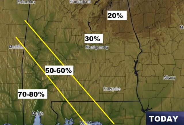"""SAAY UPDATE: """"Up and Down"""" Weekend Rain Chance ... on"""