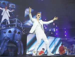 bieber in all white around the world