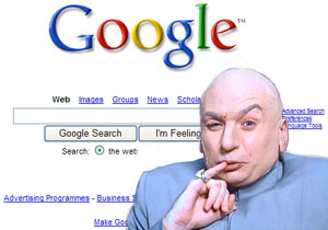 dr. evil & the google logo