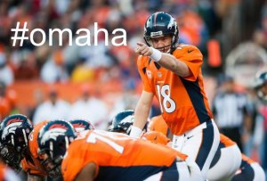 peyton pointing to his most famous snap count