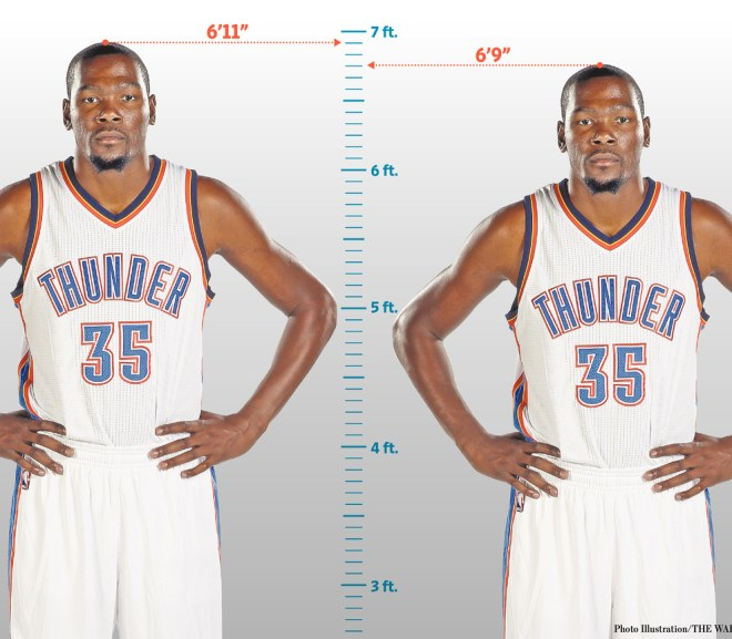 how tall is kevin durant?