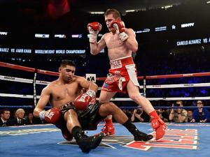 canelo knocks khan out in the 6th round