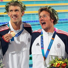 michael phelps and ryan lochte in athens