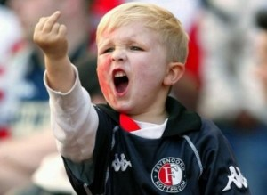 famous photo of feyenoord giving the finger