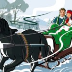 santa's sleigh & other sleighs in christmas carols