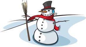 a classic snowman