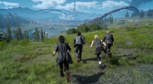 the heroes of final fantasy xv in the wilderness