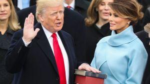 trump being sworn in