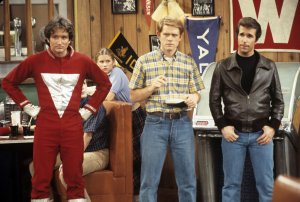 mork from ork with richie cunningham & the fonz