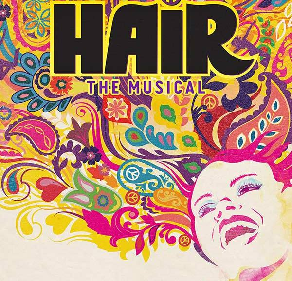 theatre poster for the musical hair