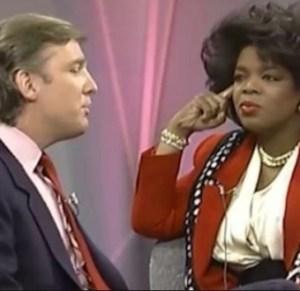 oprah interviewing donald trump in 1988