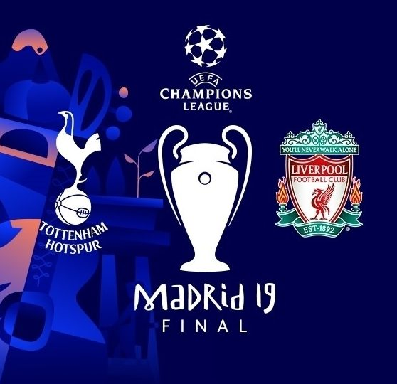 poster for uefa champions league final 2019 between tottenham hotspur & liverpool