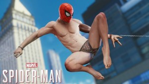 spiderman in his underpants