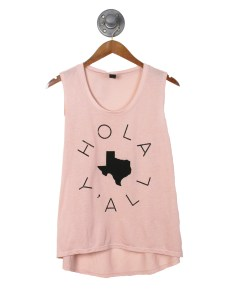 "a state of texas t-shirt that says ""hola y'all"""