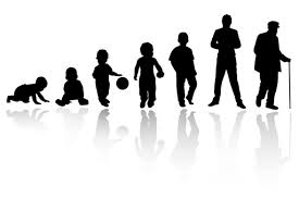 silhouettes that demonstrate growing up--'grow up' phrasal verb