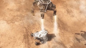 curiosity rover landing on mars