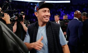 gennady golovkin at the canelo/khan fight