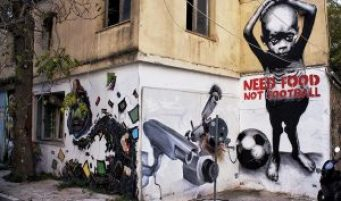 graffiti from before the 2014 world cup in brazil