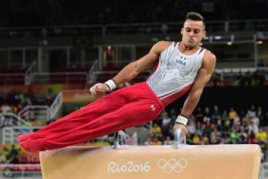 obvious as a male gymnast's crotch