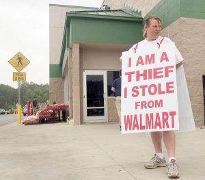 shaming at walmart