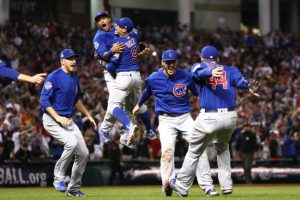 cubs celebrate winning the world series