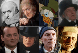 8 different scrooges
