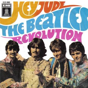 a photo for the beatles single hey jude/revolution