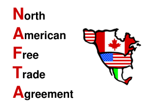a cartoon map of nafta