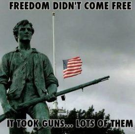 freddom didn't come free. it took guns. lots of them.