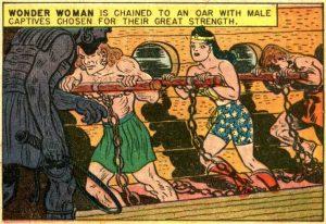 wonder woman as a galley slave