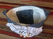 borsa jeans con centrino interno