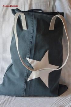 borsa con manici di serranda