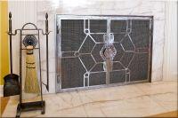 Contemporary Fireplace Doors | Rick Andrus Design | Fire-12-1b