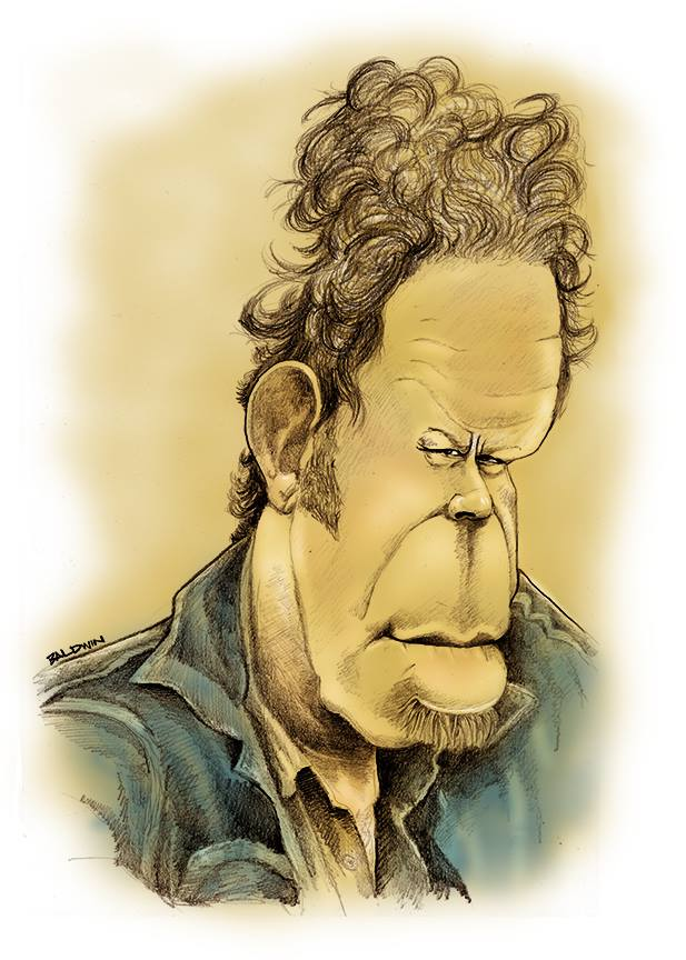 Tom Waits caricature