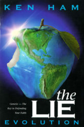 """cover art of """"The Lie: Evolution,"""" featuring an apple-shaped globe with a bite having been taken out of it"""