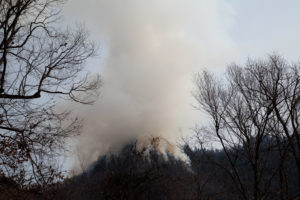 Wildfire on Chimney Tops, Smokey Mountain National Park
