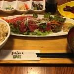 六本木ヒルズ近くのSakura食堂で食べたマグロのカルパッチョが美味しかった!