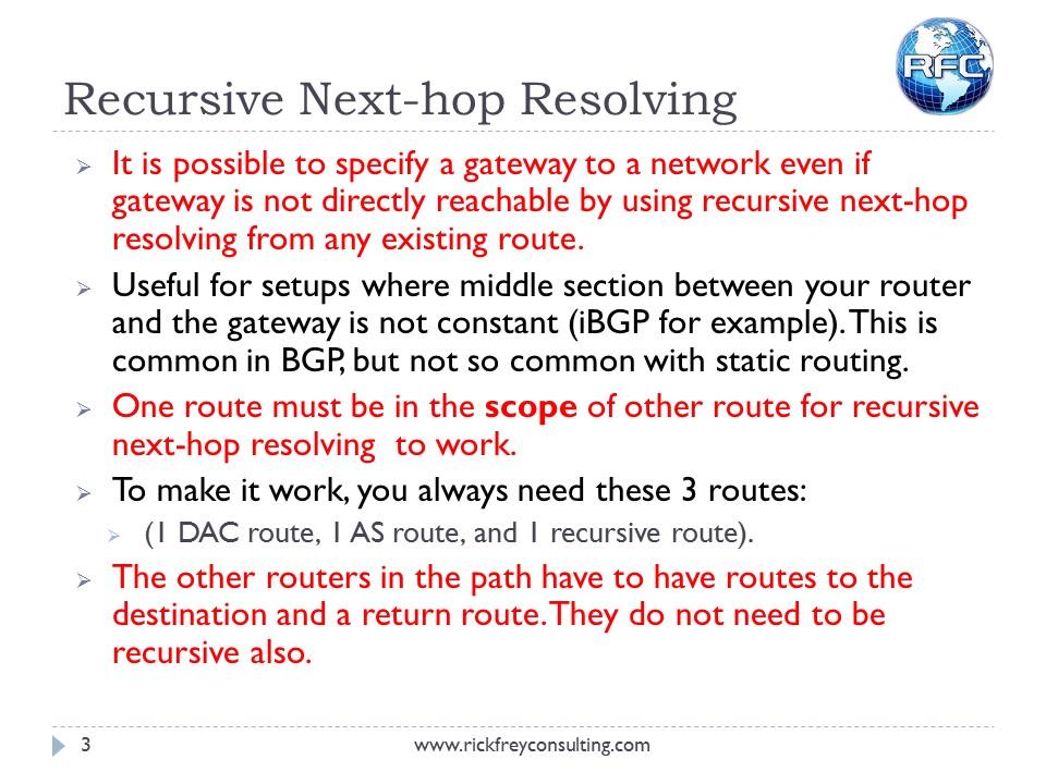 Recursive Next Hop Resolving (3)