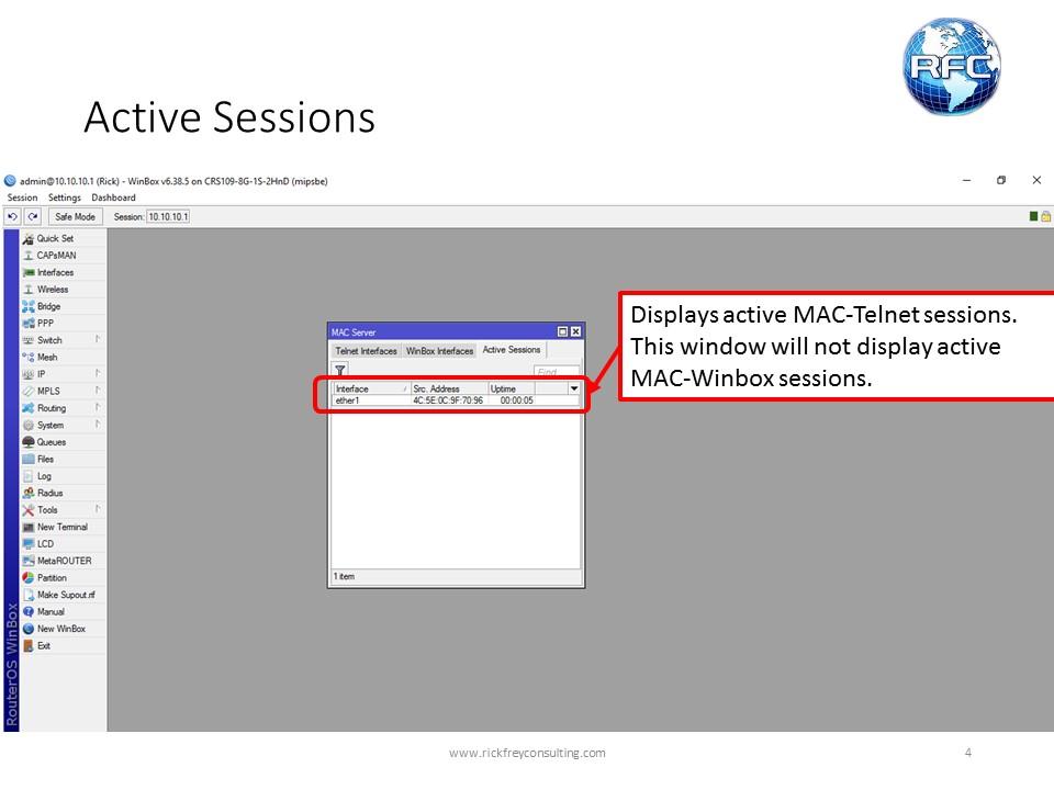 MAC Server & MAC Ping – RFC