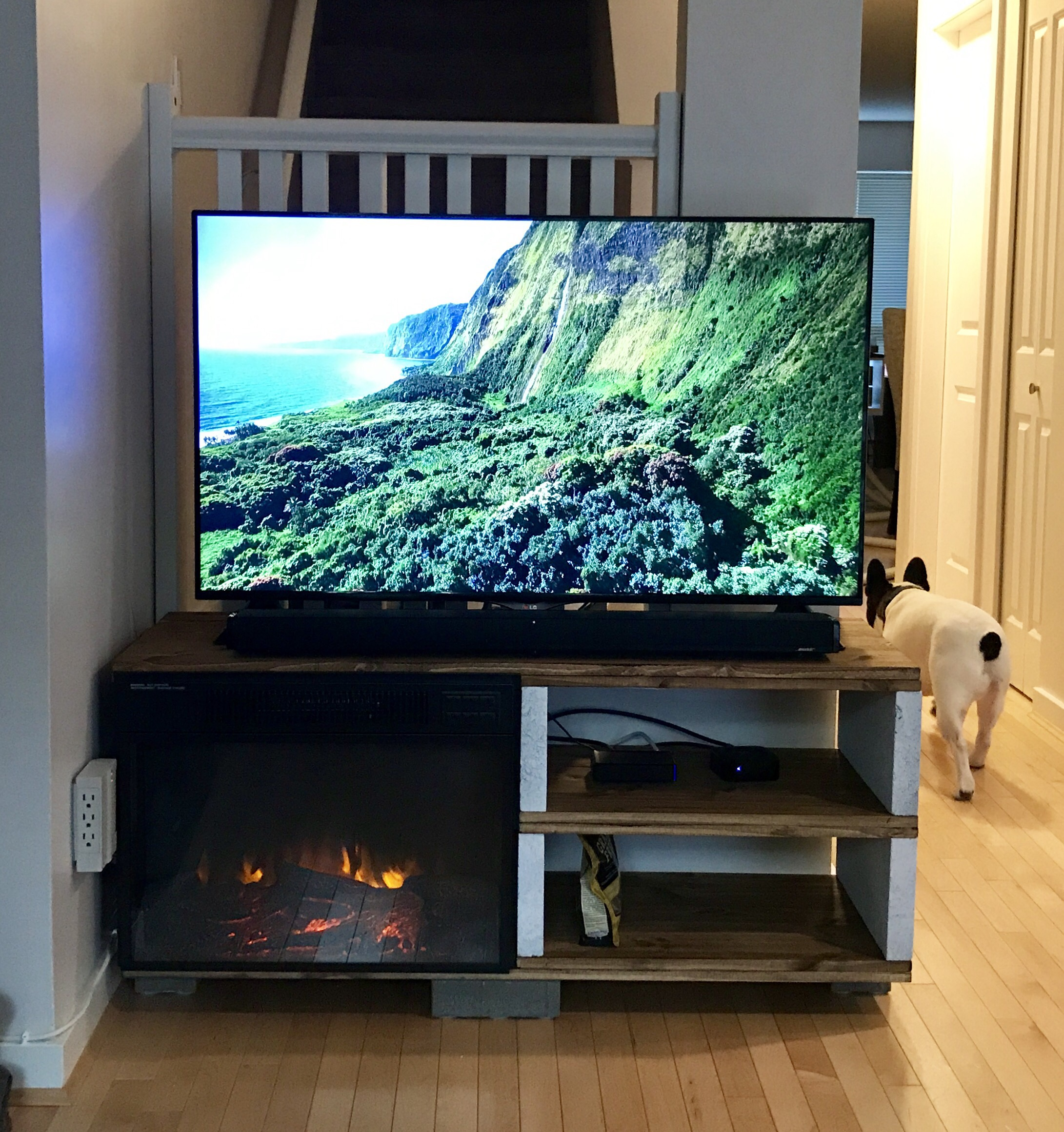 patio stones pine sheets tv stand