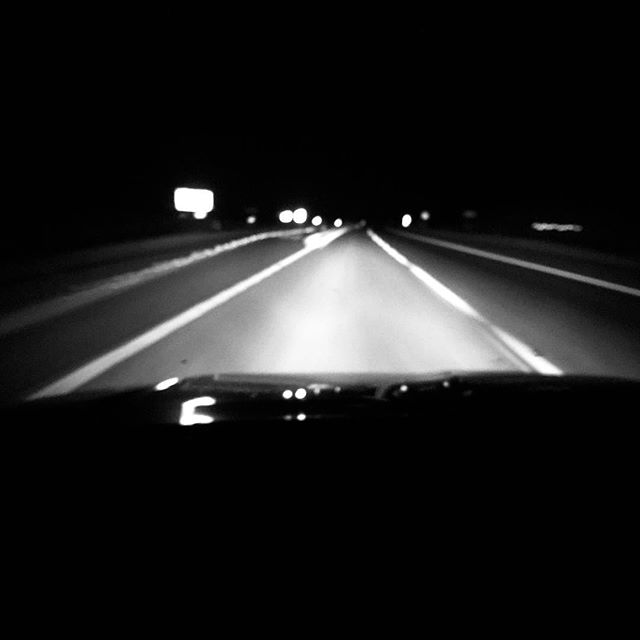 Few things punctuate my loneliness as much as leaving them, so I scream down the road, windows down, music loud, starry night, and the smell of the desert, thanking God I have them, begging God to keep me strong. #blackandwhitephotography #missingmykids