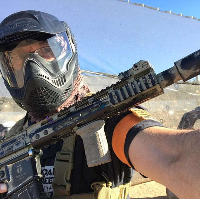 Tearing it up in paintball. Never too old. #sasaz #fightertown #nevertooold #magfedpaintball
