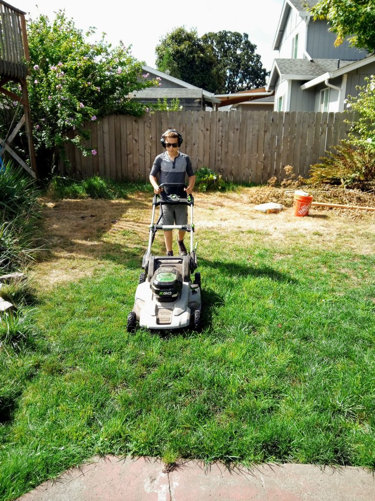 Rick with his lawnmower 1