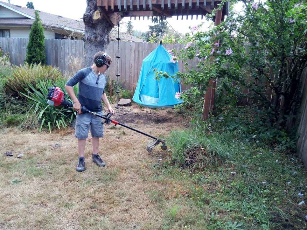 Rick with his lawnmower 4