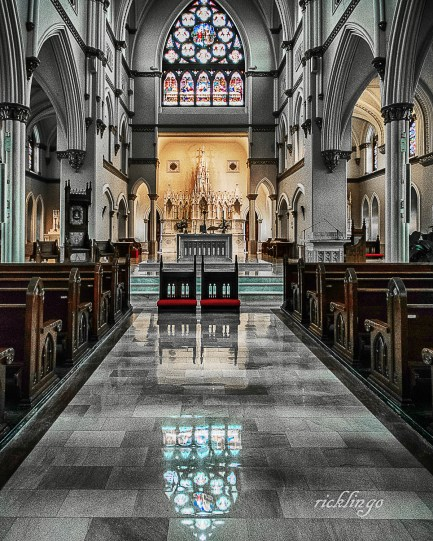 "Cathedral of Saint John the Baptist, Charleston, South Carolina. 7th place in ""Buildings and Architecture"" on international website Pixoto. ""Superb Composition"" Peer Award on international website ViewBug."