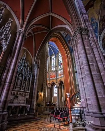 Inside Saints Peter and Paul Church, Osijek, Croatia.