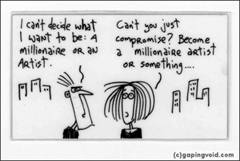 """gapingvoid: """"cartoons drawn on the back of business cards"""""""