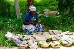Mamma with her handwoven baskets