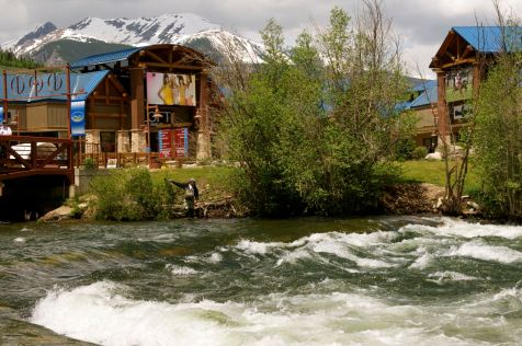 Fly-fishing at Silverthorne