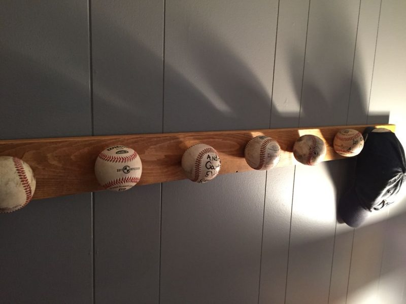 hat rack ideas using old baseball